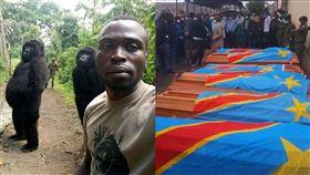 拍出猩猩哏圖 13保育員遇叛軍慘死 非洲,剛果,維龍加國家公園,猩猩,保育,叛軍,盧安達,自拍 翻攝自臉書粉絲團 The Elite AntiPoaching Units And Combat Trackers.