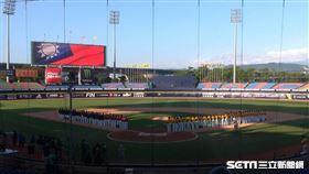 洲際棒球場世界職棒首戰。(圖/記者蕭保祥攝影)
