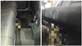 一名司機半夜載到喝醉的女客人,女客人竟然直接吐在車上(圖/翻攝自爆料公社)