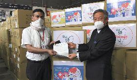 印度紅十字會獲贈口罩  以感謝函感謝