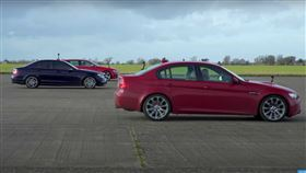 ▲Audi RS4、Mercedes-Benz C63、BMW M3對決(圖/翻攝自carwow Youtube)