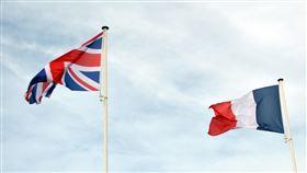 英國國旗,法國國旗(圖/翻攝自pixabay)