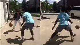 影/超狂媽媽!背後運球打爆少年仔 籃球,街頭,媽媽,背後運球 翻攝自《Bleacher Report》臉書官方粉絲團