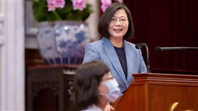 蔡英文總統12日在總統府接見「台灣護理學會及中華民國護理師護士公會全國聯合會代表」。(圖/總統府提供)