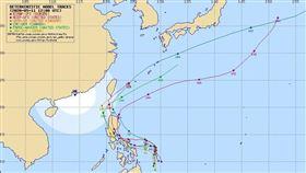 最新「4國模擬路徑」曝光!準黃蜂颱風:若走這條影響最大(圖/翻攝自typhoon2000.ph)
