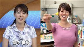 竹中知華因她「巨乳」身材,不斷接獲女觀眾的投訴辱罵。(圖/翻攝自竹中知華IG)