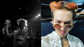 韓媒公開宋旻浩當日在夜店表演的照片。(圖/翻攝自韓網) 來源 新媒體