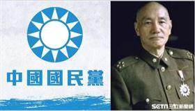 國民黨徽+蔣中正,組合圖
