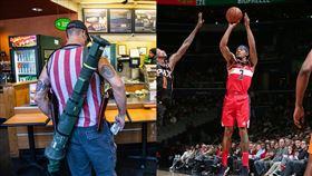 NBA/民攜重武上街 巫師一哥怒轟 NBA,華盛頓巫師,Bradley Beal,火箭砲,散彈槍 翻攝自推特