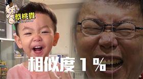 蔡阿嘎/蔡桃貴大笑「100%神複製」柯文哲。(圖/翻攝自YouTube)