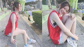 阿樂,林妤臻,PO出打籃球照片,被人封為「真人版晴子」。(圖 /翻攝自我是阿樂 臉書)