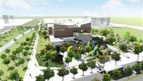 竹縣府斥資4億串聯起水圳綠意打造會呼吸的總圖書館(圖/新竹縣政府)