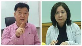 台北市議員王孝維、民進黨主委薛凌(組合圖)