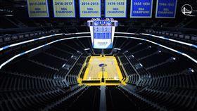 勇士,NBA,主場,球場,球館,大通中心,閉館,停賽。(圖/翻攝自勇士官方推特)