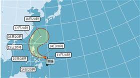 今年第一個颱風!黃蜂被升格為「中颱」(圖/翻攝自中央氣象局)
