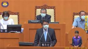 潘孟安議會施政報告不看稿、不喝水,提到118組數字(圖/翻攝自潘孟安臉書)