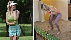 美國前知名女子高爾夫選手Paige Spiranac(合成圖/翻攝自IG)