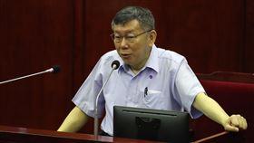 柯文哲赴議會專案報告台北市長柯文哲14日赴台北市議會專案報告,就市府對COVID-19疫情各項防疫、紓困及產業振興等作為向議員說明。中央社記者張新偉攝  109年5月14日