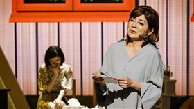 王彩樺在八大第1台《樂來越好聽》節目中,聊起當初在秀場首次擔任女主角,就是澎恰恰給她機會。圖/八大提供
