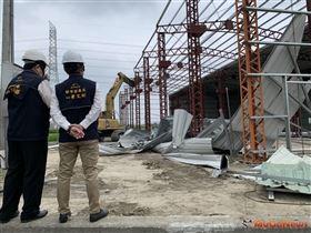 強制拆除農地新增違建工廠,中市府:捍衛農地合法使用(圖/台中市政府)