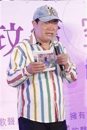 劉福助出席資深歌壇新人玟靈發片記者會。(圖/記者林聖凱攝影)