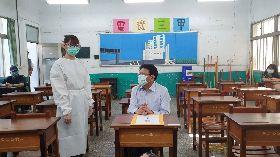 國中會考將登場 潘孟安視察考場防疫