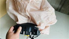 ▲正常使用過後的安全氣囊。(圖/TEC提供)