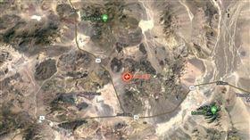 美國內華達州地震(圖/翻攝自Google Map)