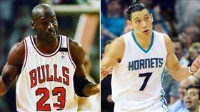 Michael Jordan,林書豪。(圖/翻攝自林書豪臉書)