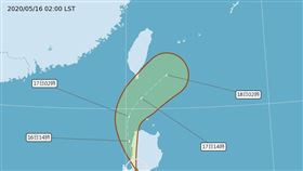 黃蜂颱風最新路徑!4縣市高溫警報…梅雨季「下週這天」來(圖/翻攝自氣象局)