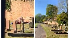 英國,公墓,性愛,活春宮(圖/翻攝自Charlie Ransford臉書)