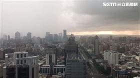 台中大雨縮時/讀者張先生授權提供