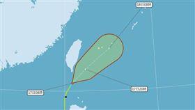 「黃蜂」早上8:30解除海上颱風警報。(圖/翻攝氣象局)