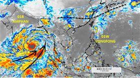 「黃蜂」威脅解除,但下周將報到的梅雨鋒面不能小覷。(圖/翻攝自「天氣職人-吳聖宇」)