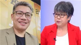 挺韓名嘴羅友志,資深媒體人黃光芹吵架。(圖/翻攝自臉書、資料照)