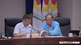 柯文哲與北市秘書長張哲揚主持交通會被 北市府提供
