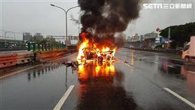 台中台74線火燒車/翻攝畫面