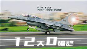 國防部發言人,AIM-120先進中程空對空飛彈,Slammer,猛擊者 圖/翻攝自國防部發言人