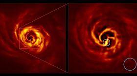 歐洲南歐天文台發現宇宙現象,一顆行星正在誕生。(圖/翻攝自歐洲南天天文台)