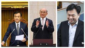 總統府秘書長蘇嘉全,行政院長蘇貞昌,民進黨秘書長林錫耀。(組合圖)