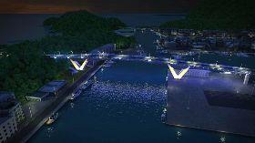 南方澳新橋設計 夜間靛藍光雕如鯖魚