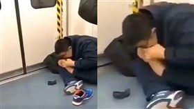 地鐵,火車,捷運,男子,腳指甲,死皮,噁心