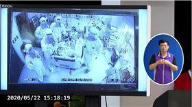 負壓隔離病房,5/8脫離葉克膜。(圖/翻攝自CDC記者會YouTube直播)