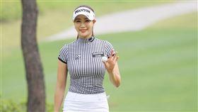 ▲韓國高球美女柳賢朱身材很突出。(圖/截自KLPGA官網)