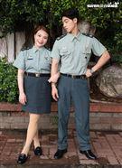 校園網劇「教官怎麼辦」演員張可昀(小甜甜)、許德瑋。(記者邱榮吉/攝影)