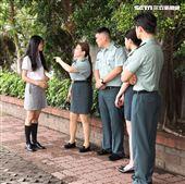 校園網劇「教官怎麼辦」演員金寶三、張可昀(小甜甜)、詠兒、許德瑋。(記者邱榮吉/攝影)