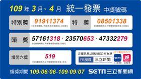 109年3-4月統一發票開獎。(圖/三立新聞網製圖)