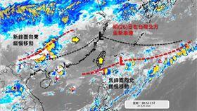 氣象專家提醒新舊鋒面明(26)起台灣北方重新串連。(圖/翻攝自「天氣職人-吳聖宇」粉專)