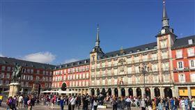 西班牙馬德里市中心的市長廣場。(圖/美聯社/達志影像)