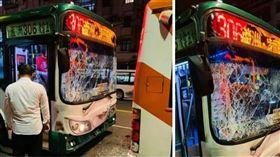 公車,八德路,車禍,睡著(圖/翻攝自爆料公社)